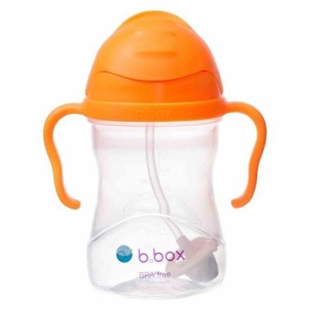 Bidon ze słomką 240 ml pomarańczowy B.Box