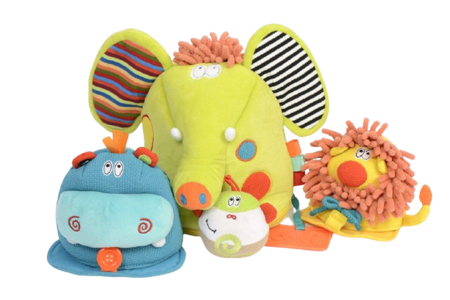 Matrioszka Zabawka sensoryczna 4w1, Safari, Dolce