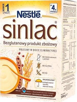 NESTLE SINLAC Bezglutenowy Produkt Zbożowy 500g