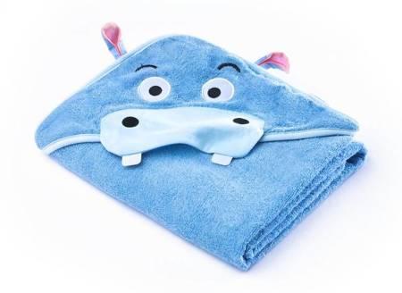 Okrycie Kąpielowe Z Kapturem 100×100cm Hipopotam Blue Sensillo